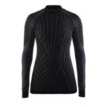 Craft active intensity CN dames ondershirt lange mouwen zwart grijs