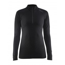 Craft active intensity zip dames ondershirt lange mouwen zwart