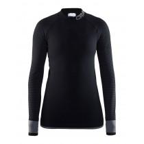 Craft warm intensity CN dames ondershirt lange mouwen zwart grijs