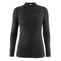 Craft warm intensity cn dames ondershirt met lange mouwen zwart