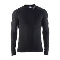 Craft warm intensity CN ondershirt lange mouwen zwart grijs