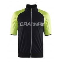 Craft shield 2 fietsshirt korte mouwen zwart geel