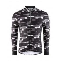 Craft reel thermal fietsshirt lange mouwen p quad zwart