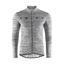 Craft reel thermal fietsshirt lange mouwen donker grijs melange zwart