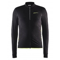Craft reel thermal fietsshirt lange mouwen zwart geel