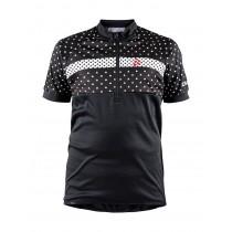 Craft junior fietsshirt met korte mouwen zwart wit