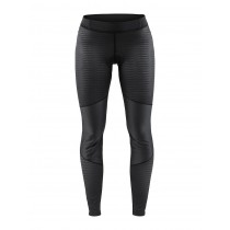 Craft ideal wind dames lange fietsbroek zwart