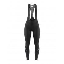 Craft ideal thermal dames lange fietsbroek met bretels zwart (999999)