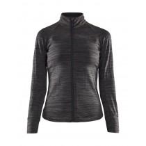 Craft ideal thermal dames fietsshirt met lange mouwen zwart melange