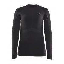 Craft active intensity cn dames ondershirt met lange mouwen zwart asphalt