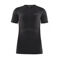 Craft active intensity dames ondershirt met korte mouwen zwart asphalt