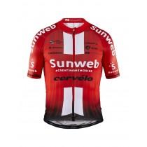 Craft team Sunweb aerolight fietsshirt met korte mouwen sunweb rood