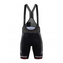 Craft team Sunweb armor korte fietsbroek met bretels zwart