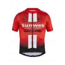 Craft team Sunweb replica fietsshirt met korte mouwen sunweb rood