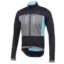 Pearl izumi elite escape softshell fietsjack zwart blauw