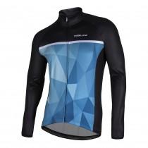 Nalini Algol fietsshirt lange mouwen blauw zwart
