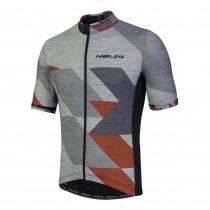 Nalini rapidità fietsshirt met korte mouwen grijs melange rood