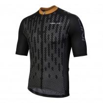 Nalini podio fietsshirt met korte mouwen zwart fluo orange