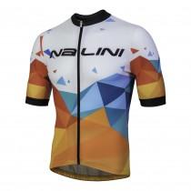 Nalini discesa fietsshirt met korte mouwen wit blauw oranje