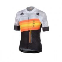 Sportful Sagan stars bodyfit team fietsshirt met korte mouwen lichtgrijs