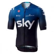 Castelli Team Sky aero race 6.0 fietsshirt met korte mouwen zwart donker ocean