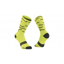 Northwave waves fietssok fluo lime zwart