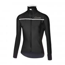 Castelli transparante 3 dames fietsshirt lange mouwen licht zwart