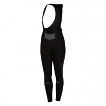 Castelli chic dames lange fietsbroek met bretels zwart grijs