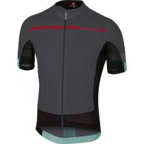 Castelli forza pro fietsshirt met korte mouwen antraciet rood