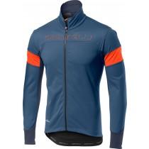 Castelli transition fietsjack licht steel blauw oranje