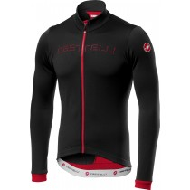 Castelli fondo fietsshirt met lange mouwen zwart rood