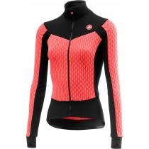 Castelli sfida dames fietsshirt met lange mouwen brilliant roze zwart