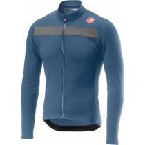 Castelli puro 3 fietsshirt met lange mouwen licht steel blauw