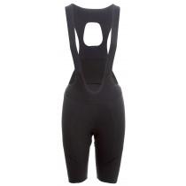 AGU premium woven dames korte fietsbroek met bretels zwart
