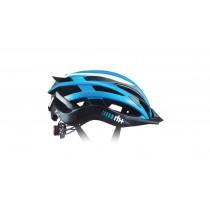 RH+ two in one fietshelm azure wit zwart