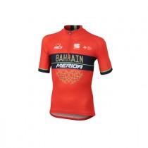 Sportful Bahrain Merida kids fietsshirt met korte mouwen rood