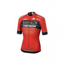 Sportful Bahrain Merida bodyfit team fietsshirt met korte mouwen rood