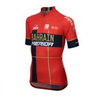 Sportful Bahrain Merida kids fietsshirt met korte mouwen rood 2019