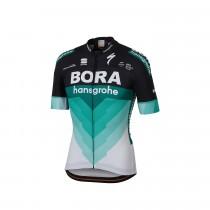 Sportful Bora Hansgrohe bodyfit team fietsshirt met korte mouwen zwart groen