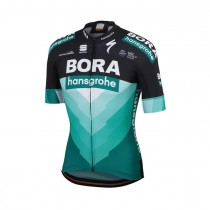 Sportful bora hansgrohe bodyfit team fietsshirt met korte mouwen zwart groen 2019