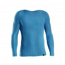 GripGrab freedom seamless thermal ondershirt met lange mouwen blauw