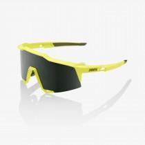 100% speedcraft fietsbril soft tact banana geel - grey green lens