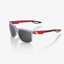 100% centric fietsbril polished crystal grey