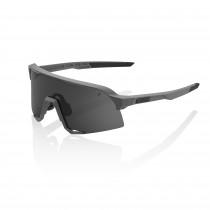 100% S3 fietsbril mat cool grijs - smoke lens