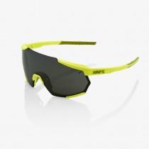 100% Racetrap Fietsbril Soft Tact Banana - Black Mirror Lens