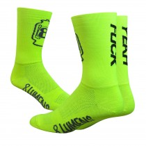 DEFEET Sock 8 Lumens F*ck Yeah Neon Yellow
