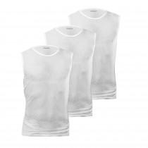 GripGrab ultralight mesh ondershirt zonder mouwen wit (3-pack)