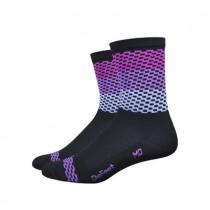 """DEFEET Sock Aireator 4"""" Charleston Black Purple"""