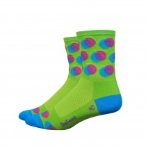 "DEFEET Sock Aireator 4"" Blurred Lime Process Blue"