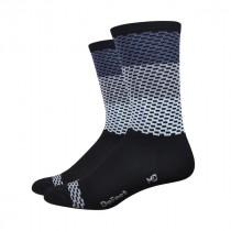 "DEFEET Sock Aireator 6"" Charleston Grey White"